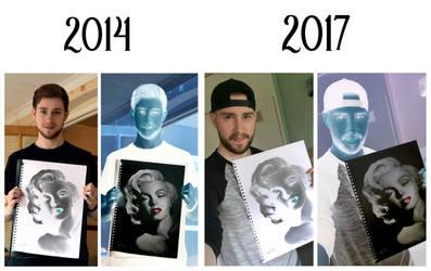 Negative Drawing 2014/2017 - Marilyn Monroe