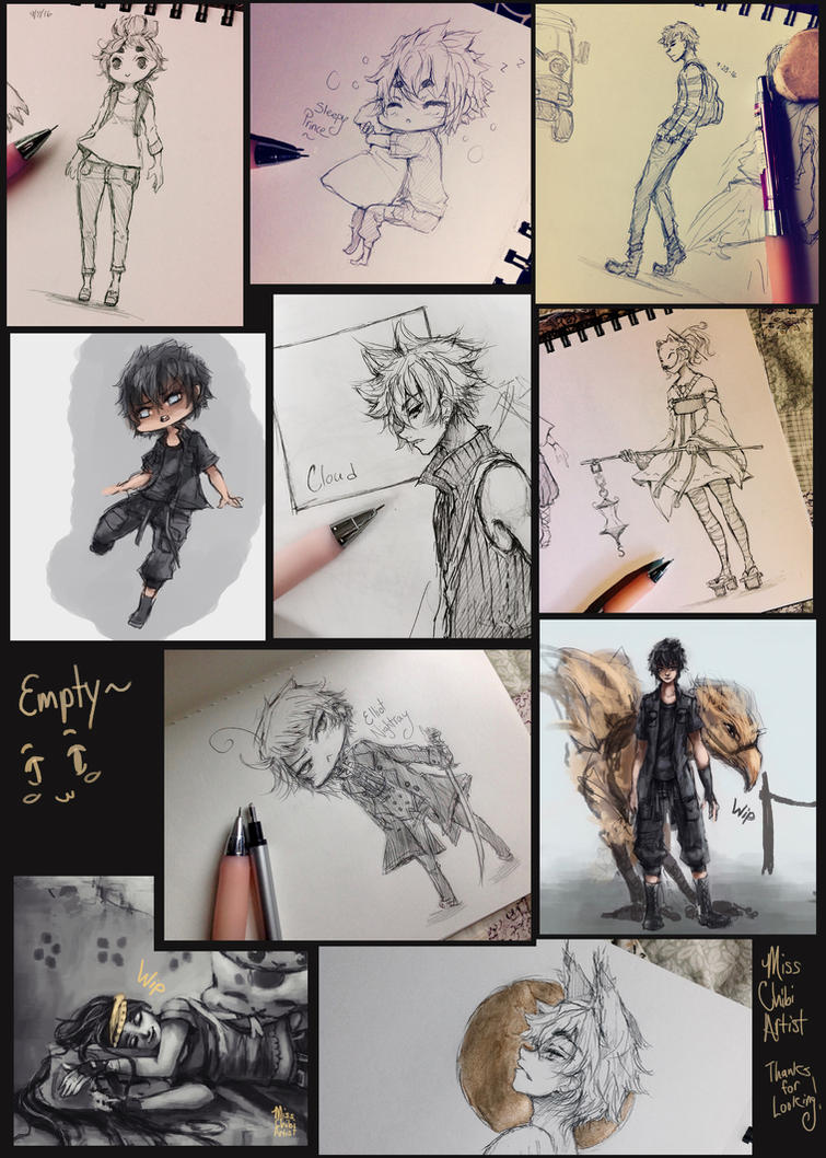 Doodle dump - 03 by MissChibiArtist