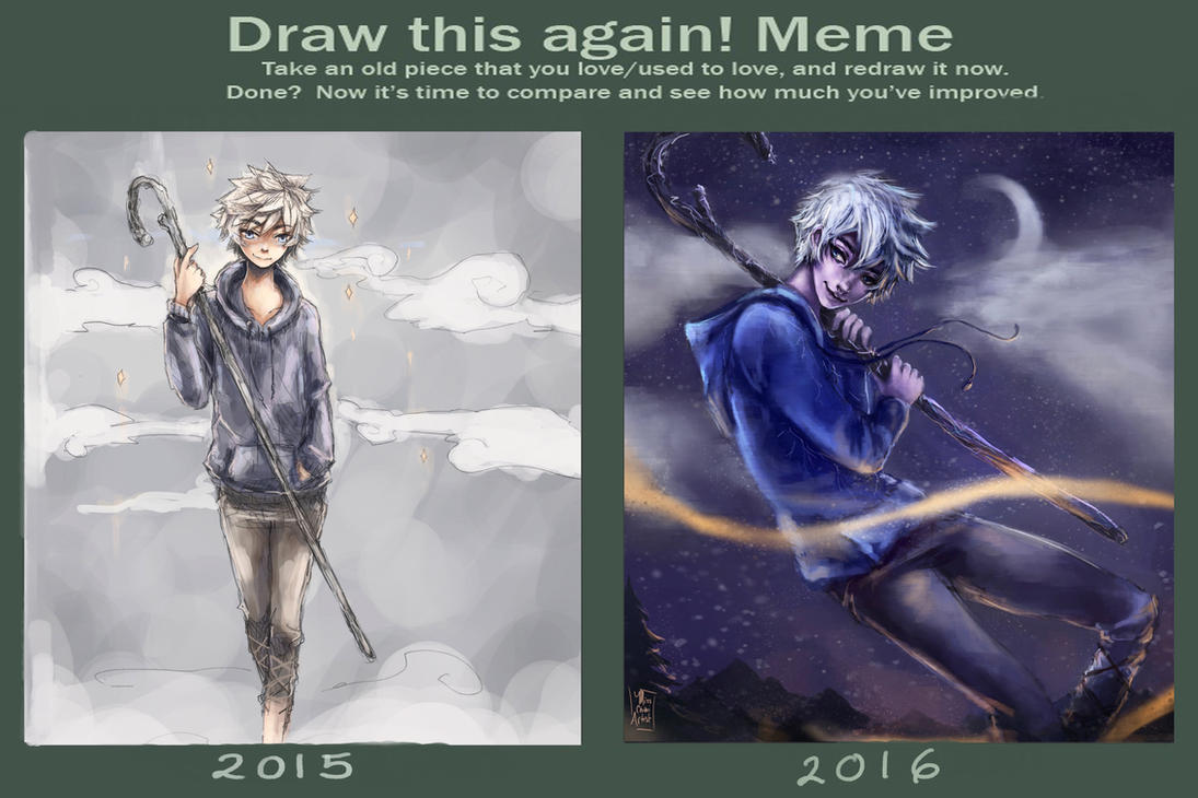 Jack Frost - Improvement Meme - 2015-2016 by MissChibiArtist