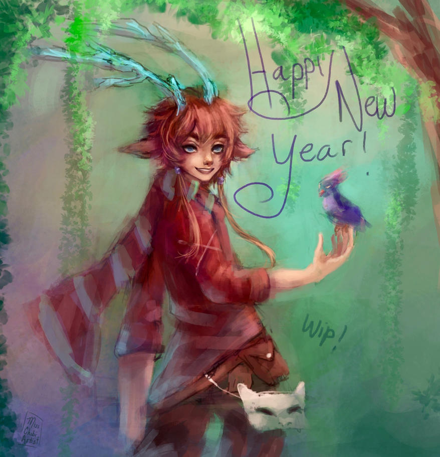 Happy New Year - wip by MissChibiArtist