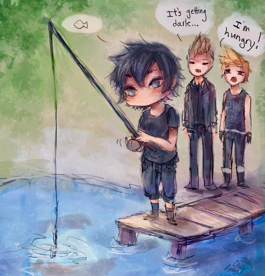 Adventures with Noctis and Friends - Fishing Pt. 1 by MissChibiArtist