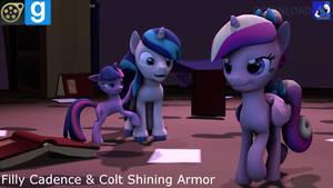 [SFM,Gmod] Filly Cadence n' Colt Shining armor[DL]