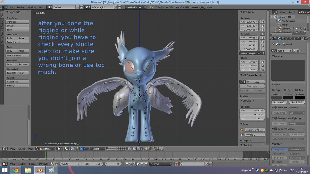 3d Character Design Tutorial Blender : Tutorial blender rigging lastpage by yoksaharat on
