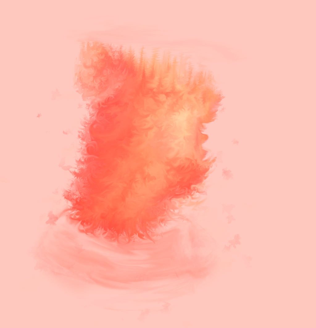 Autumn hair, finger brush practice by spo00ks