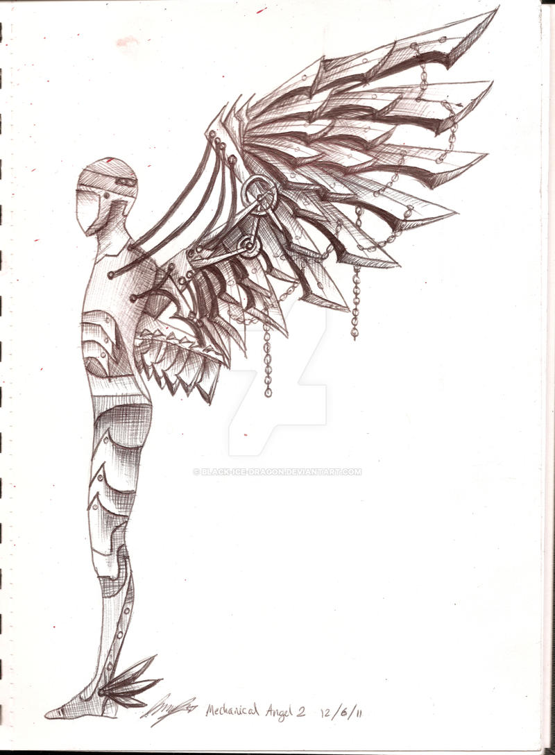 mechanical angel 2 by black ice dragon on deviantart