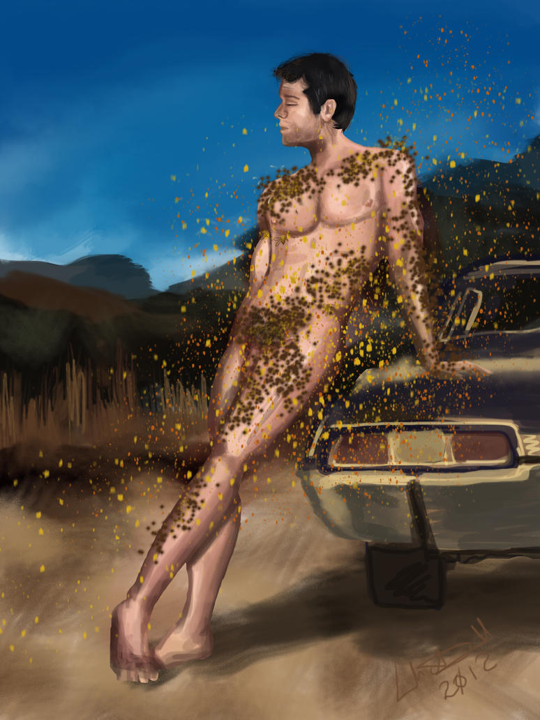 Castiel and the bees by hydraa