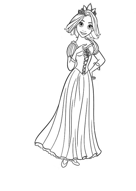 short a coloring page - rapunzel with short hair by crisdlwlf on deviantart