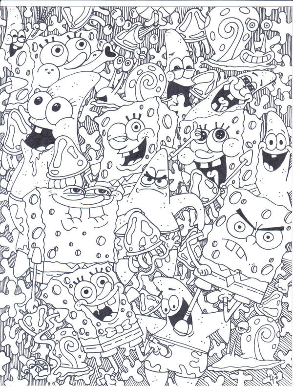 Spongebob_collage by Nicktoonslovers-club
