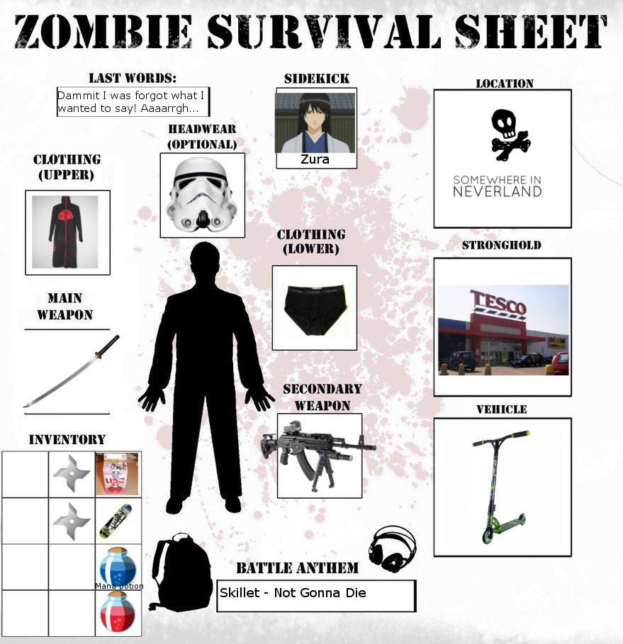 Zombie survival sheet 5.0 generator