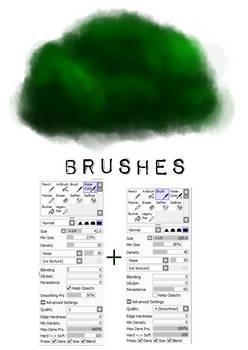 PaintTool SAI brush settings 2 (tree)