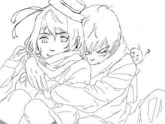 Prussia X Nyo Romania SKETCH by Andre-XD
