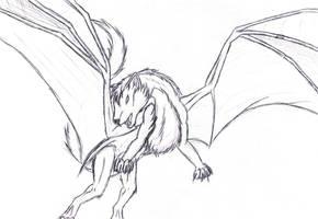Nightshadow the wolfdragon