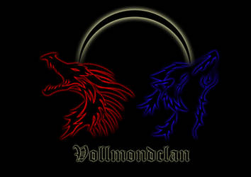 Logo with Dragon and Wolve