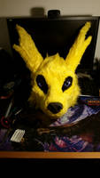 Jolteon Head WIP by Shiryuakais