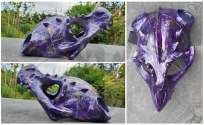Dragonskull Halfmask Violett