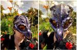 Dragonskull Halfmask Violett by Shiryuakais
