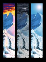 Triptych Mountains by MikiSuzaki