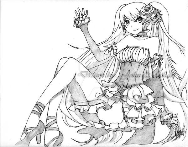 Hatsune Miku Colors of piano costume by sucker068
