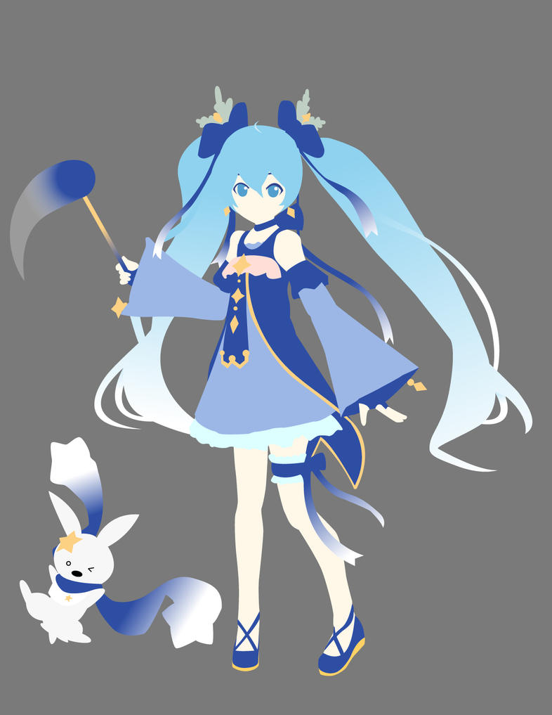 Snow Miku 2017 Minimalist Vector by sucker068