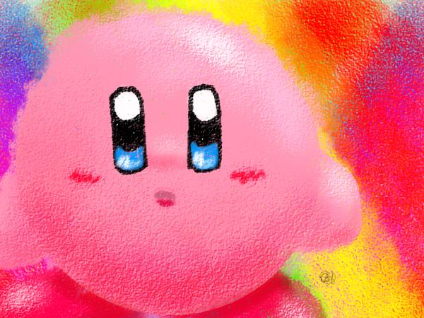 Crayon Kirby by Blustarpilot