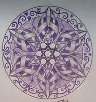Purple Mandala Zentangle 2 by staceysmile