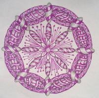 Purple Mandala Zentangle by staceysmile
