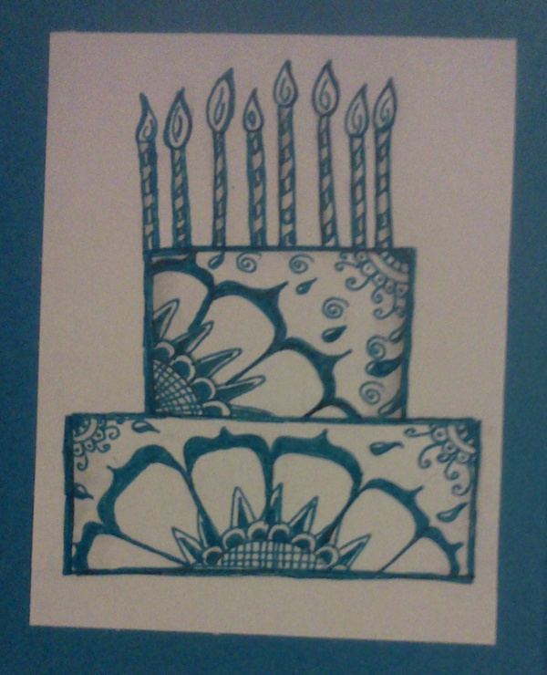 Zentangle Birthday Card By Staceysmile