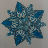 Blue Star Zentangle by staceysmile