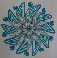 Blue Mandala Zentangle 2 by staceysmile