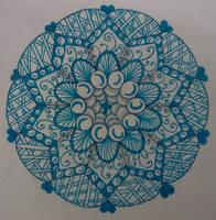 Blue Mandala Zentangle by staceysmile