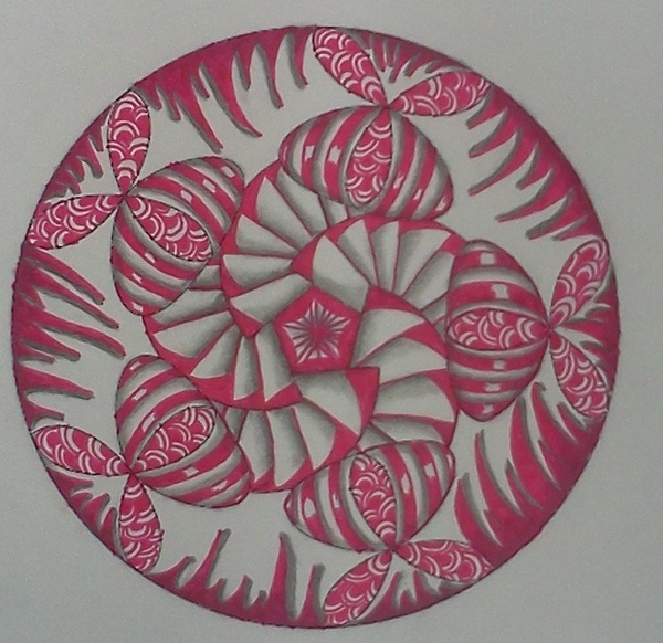 Pink Zentangle 3 by staceysmile