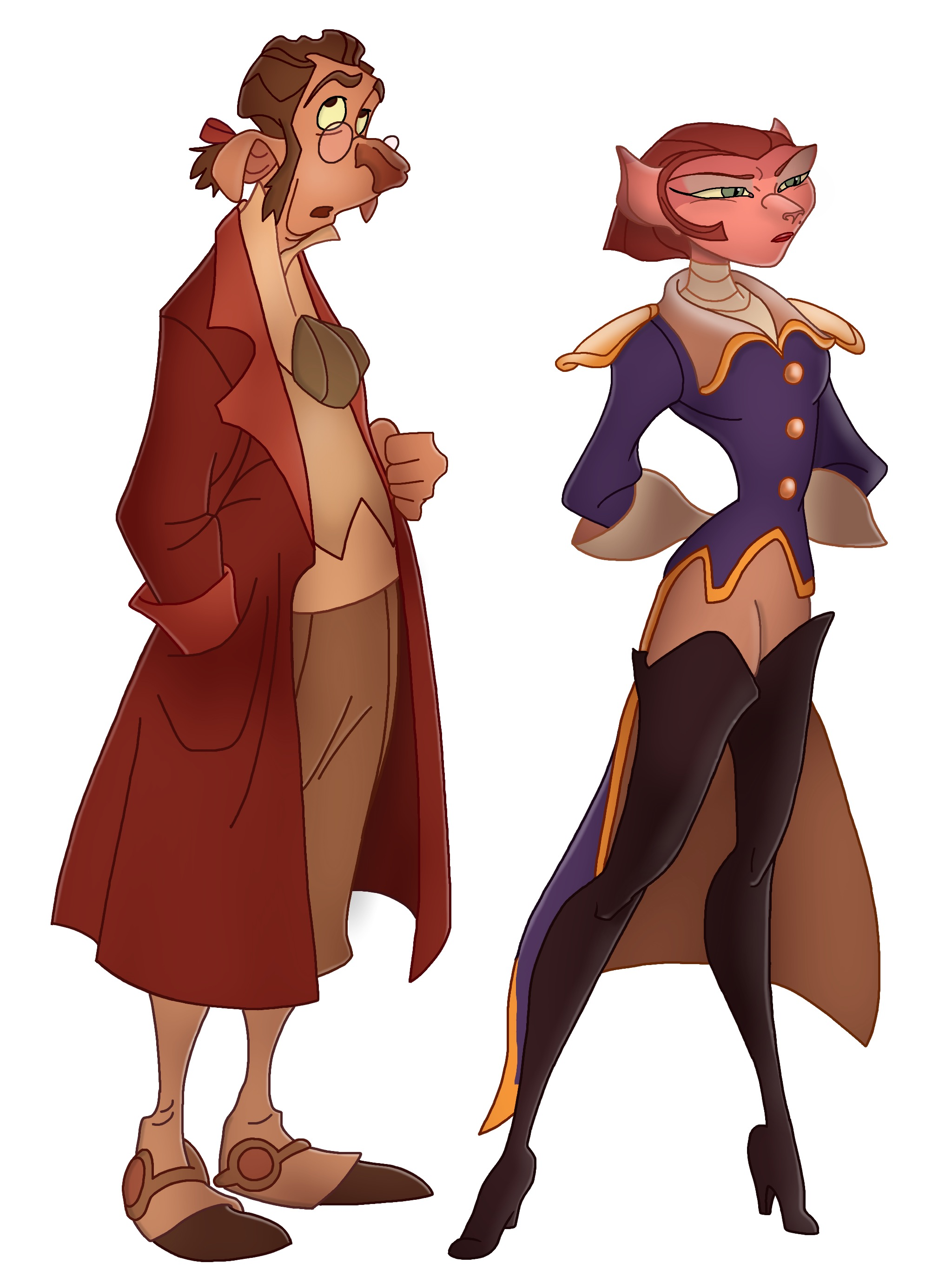 Treasure Planet: Dr Doppler and Captain Amelia by ...