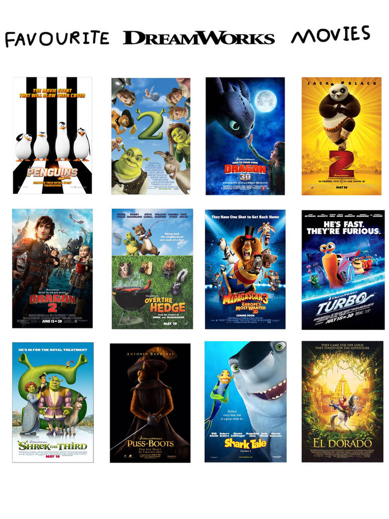 Favourite Dreamworks Movies by JustSomePainter11 on DeviantArt