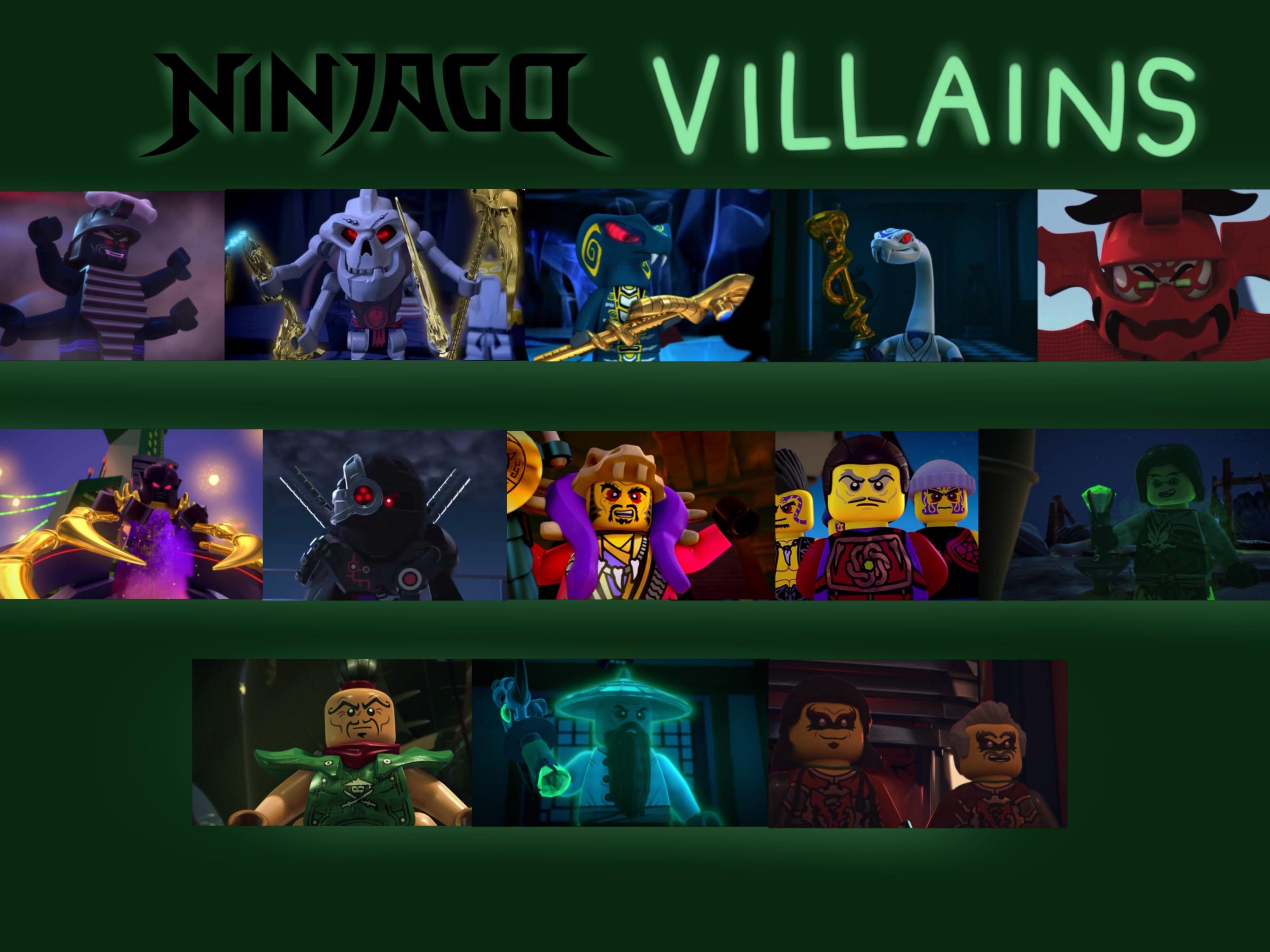Ninjago Villains by JustSomePainter11 on DeviantArt