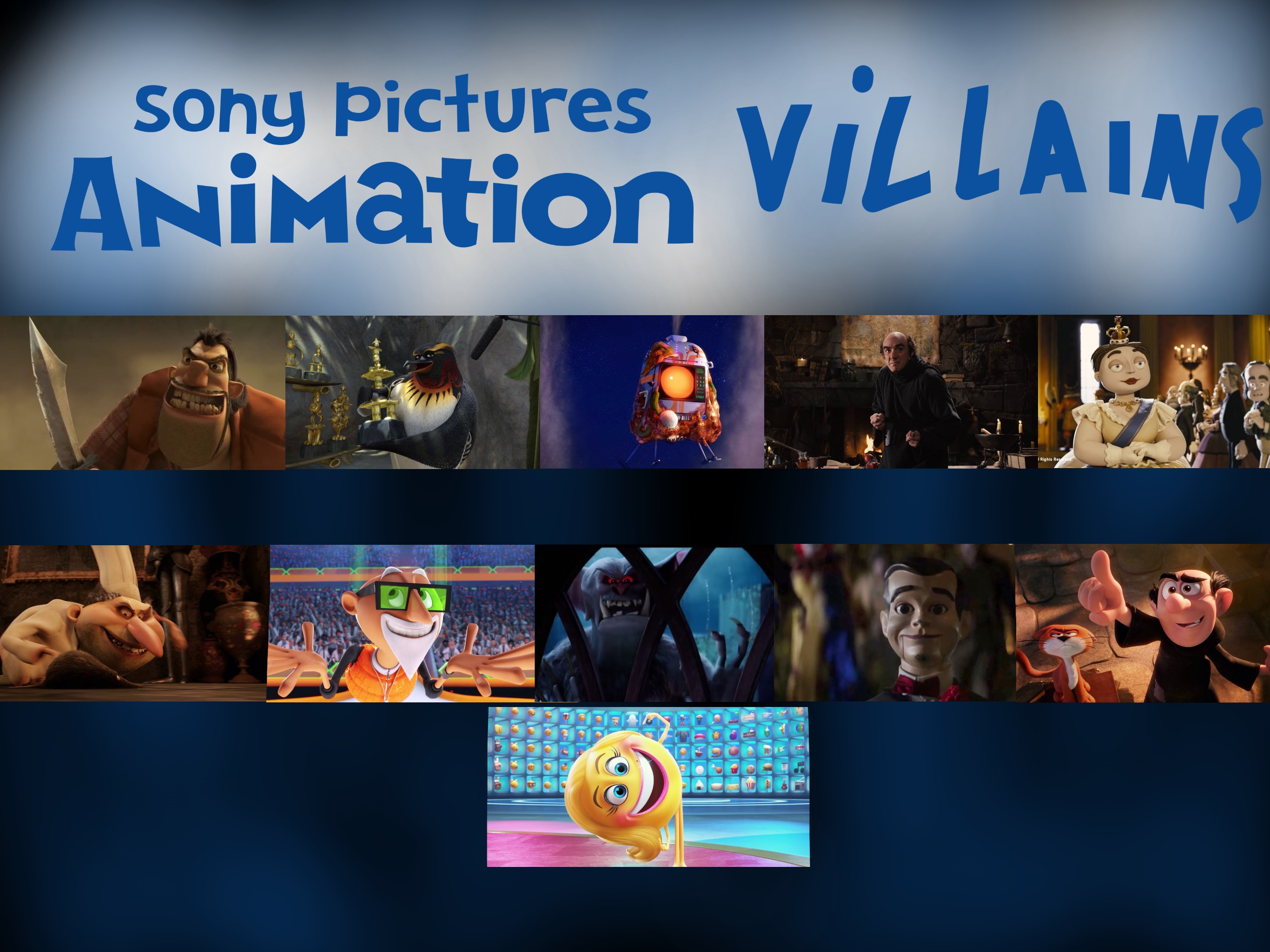 sony pictures animation villains by justsomepainter11 on