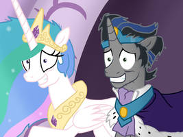 Stressed Royal Parents by JustSomePainter11