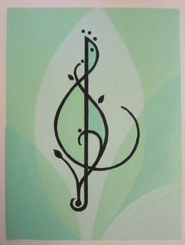 Treble Clef - green by cloutierj