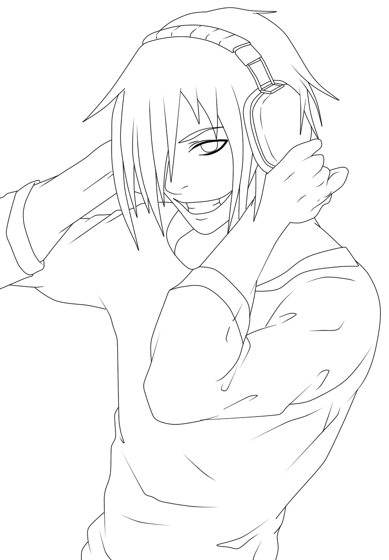 Jeff The Killer - Free Coloring Pages