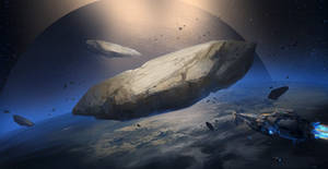 Asteroids by HazPainting