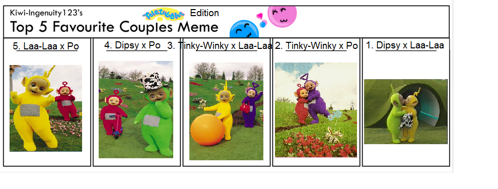 Top 5 Favorite Couples Teletubbies Edition By