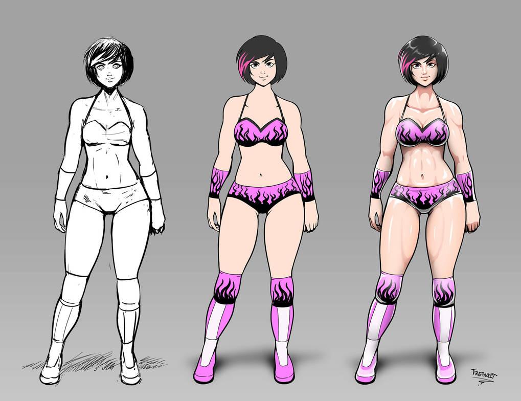 OC Wrestler color stages