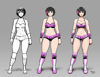 OC Wrestler color stages by Trebuxet