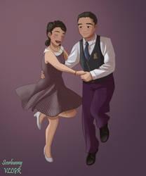 Dancing couple by scorbunnyvllgr