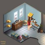 Cat Room by scorbunnyvllgr