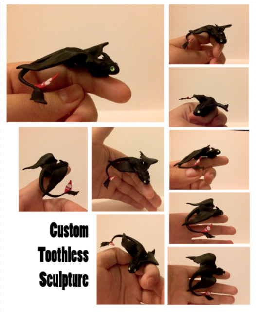 Toothless Sculpture by BeeTrue
