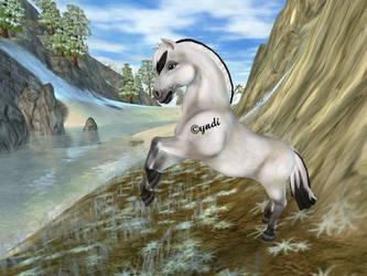 Fjord Horse - White dun by Saiyoe