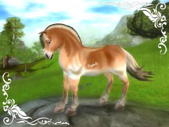 Fjord horse by Saiyoe