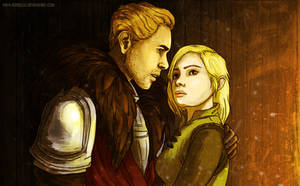 Cullen and Inquisitor by Aneriana