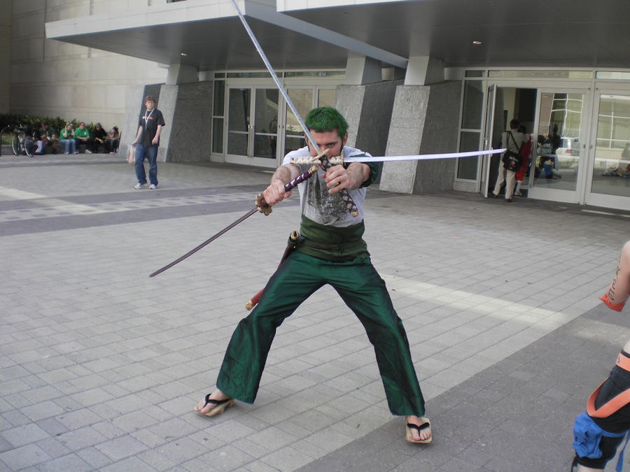 Roronoa Zoro With All 3 Swords By THeSeL