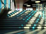 Pixel Striped Stairs by Maxojir